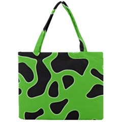 Black Green Abstract Shapes A Completely Seamless Tile Able Background Mini Tote Bag
