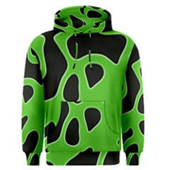 Black Green Abstract Shapes A Completely Seamless Tile Able Background Men s Pullover Hoodie