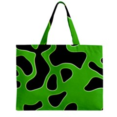 Black Green Abstract Shapes A Completely Seamless Tile Able Background Zipper Mini Tote Bag