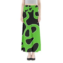 Black Green Abstract Shapes A Completely Seamless Tile Able Background Maxi Skirts