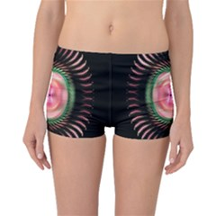 Fractal Plate Like Image In Pink Green And Other Colours Boyleg Bikini Bottoms