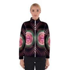 Fractal Plate Like Image In Pink Green And Other Colours Winterwear