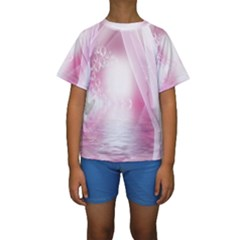 Realm Of Dreams Light Effect Abstract Background Kids  Short Sleeve Swimwear