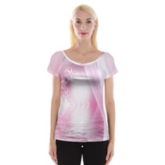Realm Of Dreams Light Effect Abstract Background Women s Cap Sleeve Top