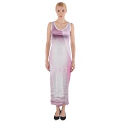 Realm Of Dreams Light Effect Abstract Background Fitted Maxi Dress