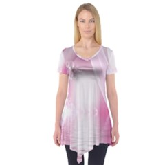 Realm Of Dreams Light Effect Abstract Background Short Sleeve Tunic