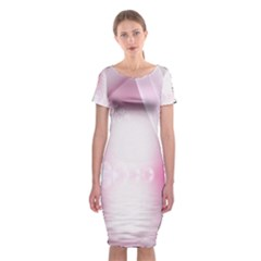 Realm Of Dreams Light Effect Abstract Background Classic Short Sleeve Midi Dress
