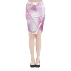Realm Of Dreams Light Effect Abstract Background Midi Wrap Pencil Skirt