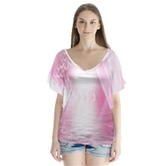 Realm Of Dreams Light Effect Abstract Background Flutter Sleeve Top