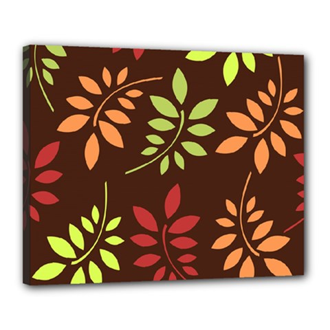 Leaves Wallpaper Pattern Seamless Autumn Colors Leaf Background Canvas 20  X 16
