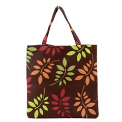 Leaves Wallpaper Pattern Seamless Autumn Colors Leaf Background Grocery Tote Bag