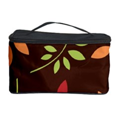 Leaves Wallpaper Pattern Seamless Autumn Colors Leaf Background Cosmetic Storage Case