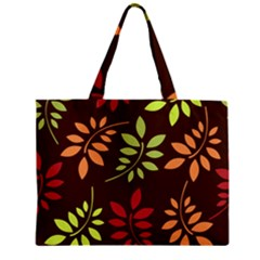 Leaves Wallpaper Pattern Seamless Autumn Colors Leaf Background Zipper Mini Tote Bag