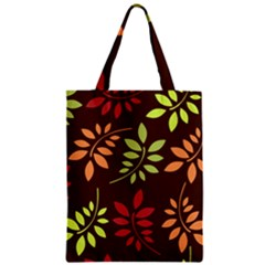 Leaves Wallpaper Pattern Seamless Autumn Colors Leaf Background Zipper Classic Tote Bag
