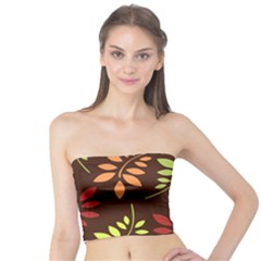 Leaves Wallpaper Pattern Seamless Autumn Colors Leaf Background Tube Top