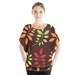 Leaves Wallpaper Pattern Seamless Autumn Colors Leaf Background Blouse