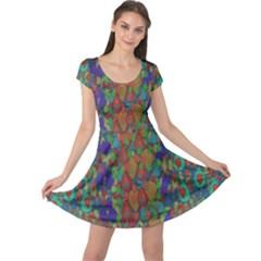 Sea Of Mermaids Cap Sleeve Dresses