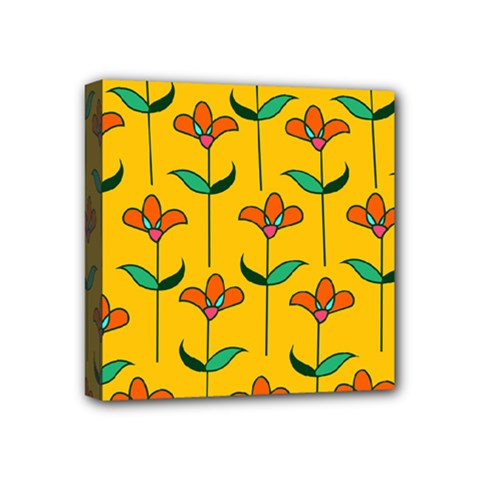 Small Flowers Pattern Floral Seamless Vector Mini Canvas 4  x 4