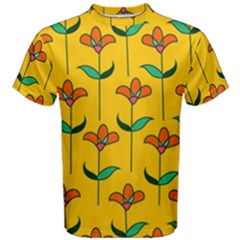 Small Flowers Pattern Floral Seamless Vector Men s Cotton Tee