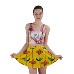 Small Flowers Pattern Floral Seamless Vector Mini Skirt