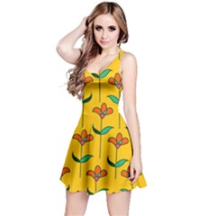 Small Flowers Pattern Floral Seamless Vector Reversible Sleeveless Dress