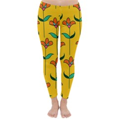 Small Flowers Pattern Floral Seamless Vector Classic Winter Leggings