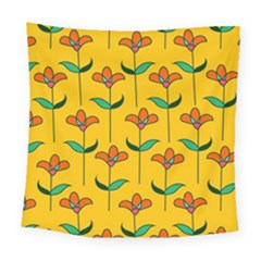 Small Flowers Pattern Floral Seamless Vector Square Tapestry (large)