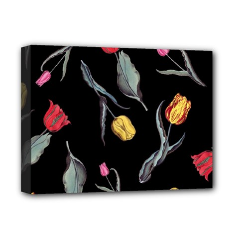 Colorful Tulip Wallpaper Pattern Background Pattern Wallpaper Deluxe Canvas 16  X 12