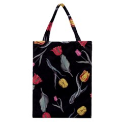 Colorful Tulip Wallpaper Pattern Background Pattern Wallpaper Classic Tote Bag