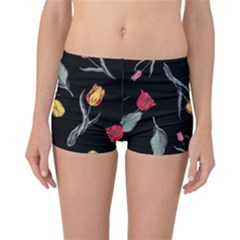 Colorful Tulip Wallpaper Pattern Background Pattern Wallpaper Reversible Bikini Bottoms