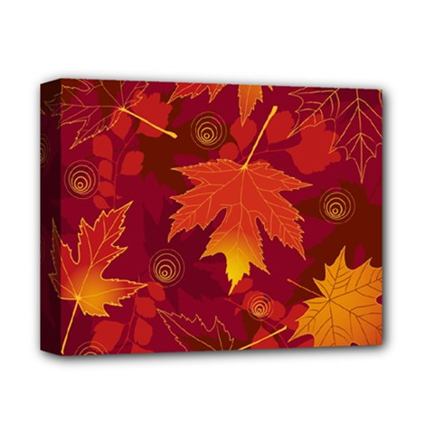 Autumn Leaves Fall Maple Deluxe Canvas 14  x 11