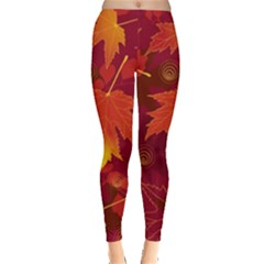 Autumn Leaves Fall Maple Leggings