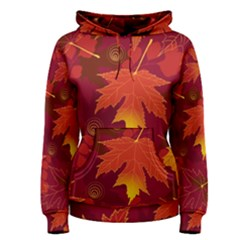 Autumn Leaves Fall Maple Women s Pullover Hoodie