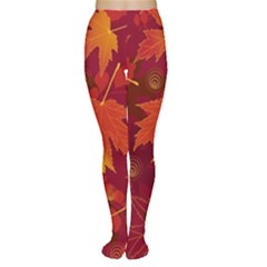 Autumn Leaves Fall Maple Women s Tights