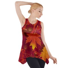 Autumn Leaves Fall Maple Side Drop Tank Tunic
