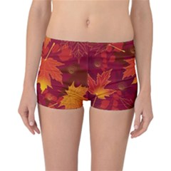 Autumn Leaves Fall Maple Reversible Bikini Bottoms