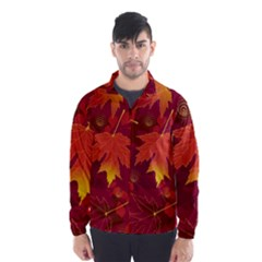 Autumn Leaves Fall Maple Wind Breaker (men)