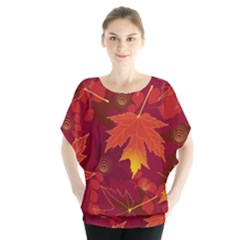 Autumn Leaves Fall Maple Blouse
