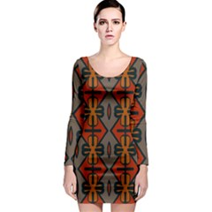 Seamless Pattern Digitally Created Tilable Abstract Long Sleeve Bodycon Dress