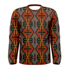 Seamless Pattern Digitally Created Tilable Abstract Men s Long Sleeve Tee