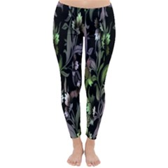 Floral Pattern Background Classic Winter Leggings