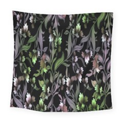 Floral Pattern Background Square Tapestry (large)