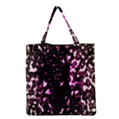 Background Structure Magenta Brown Grocery Tote Bag