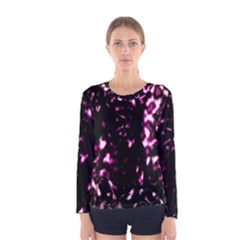 Background Structure Magenta Brown Women s Long Sleeve Tee