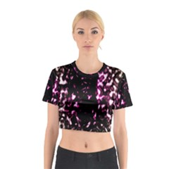Background Structure Magenta Brown Cotton Crop Top