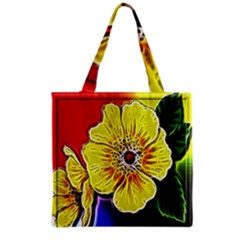 Beautiful Fractal Flower In 3d Glass Frame Grocery Tote Bag