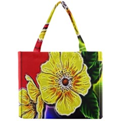 Beautiful Fractal Flower In 3d Glass Frame Mini Tote Bag