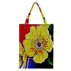 Beautiful Fractal Flower In 3d Glass Frame Classic Tote Bag
