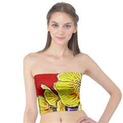 Beautiful Fractal Flower In 3d Glass Frame Tube Top