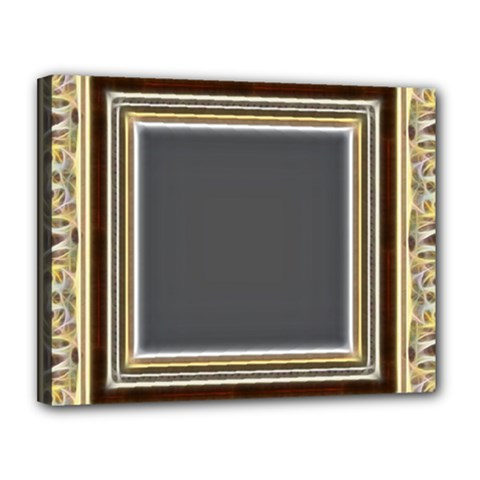 Fractal Classic Baroque Frame Canvas 14  X 11